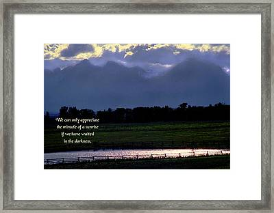 Miracles Of Nature Framed Print by Mike Flynn