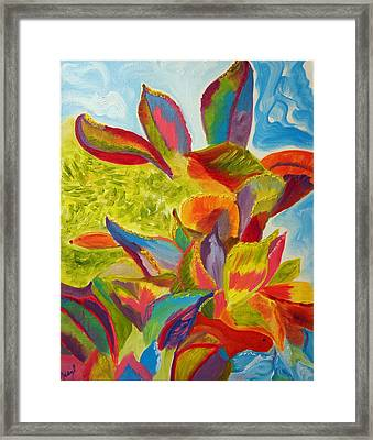 Miracles Wavering Under The Sea Framed Print by Meryl Goudey