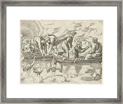 Miraculous Fishing, Cornelis Massijs Framed Print