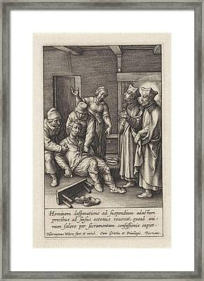 Miraculous Healing By Ignatius Loyola Of A Man Who Hanged Framed Print