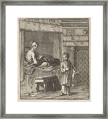 Miraculous Healing Of Jeske Klaes, Jan Luyken Framed Print