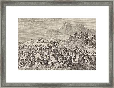 Miraculous Multiplication Of The Seven Loaves And The Two Framed Print