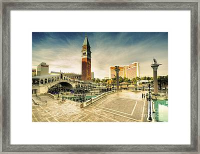 Mirage And The Venitian  Framed Print