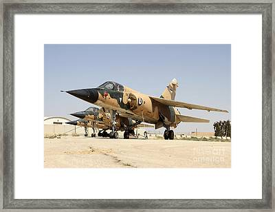 Mirage F.1 Fighter Planes Of The Royal Framed Print by Ofer Zidon