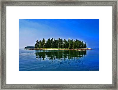 Mirage In The Mist Framed Print