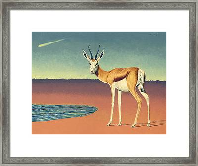 Mirage Framed Print by James W Johnson