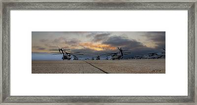 Framed Print featuring the photograph Miramar Tarmac by Ed Cilley