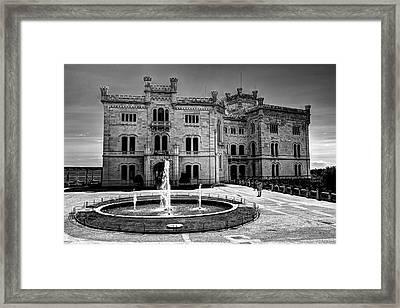 Miramare Castle Bw Framed Print by Ivan Slosar