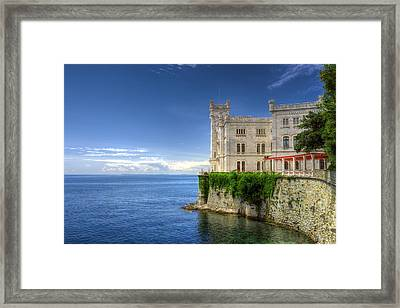 Miramare Castle Side View Framed Print by Ivan Slosar