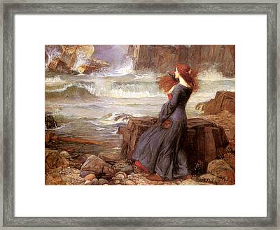 Miranda And The Tempest Framed Print