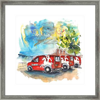 Miranda Do Douro Post Cars Framed Print by Miki De Goodaboom