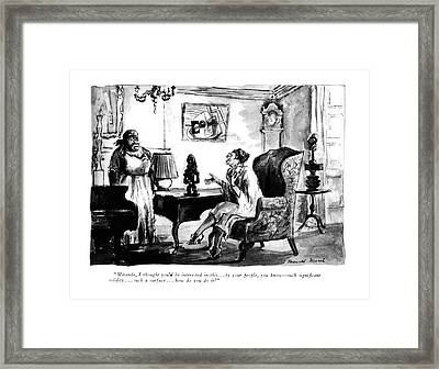 Miranda, I Thought You'd Be Interested In This Framed Print by Reginald Marsh