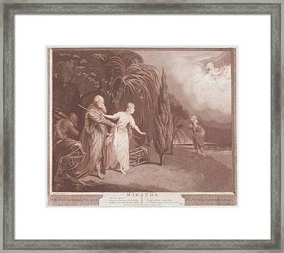 Miranda Shakespeare, The Tempest, Act Framed Print by After Robert Edge Pine