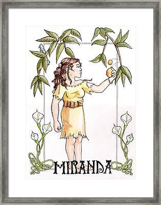 Miranda Framed Print