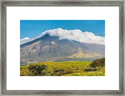 Miravalles Volcano Framed Print by Christina Klausen