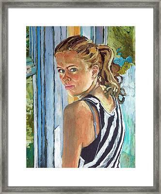 Miriam Framed Print by Janet Ashworth