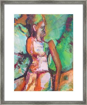 Miriam's Punishment Framed Print by Esther Newman-Cohen