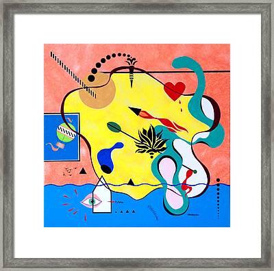 Miro Miro On The Wall Framed Print by Thomas Gronowski