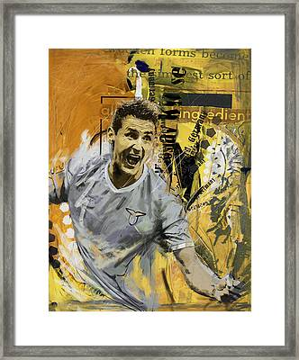 Miroslav Klose - B Framed Print by Corporate Art Task Force