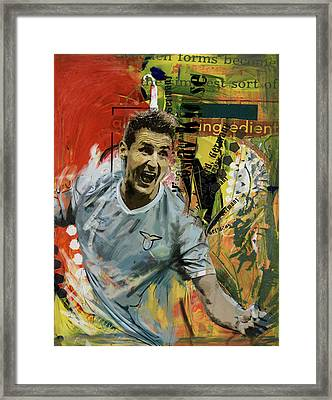 Miroslav Klose Framed Print by Corporate Art Task Force