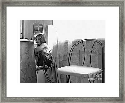 Framed Print featuring the digital art Mirror 1 by Evgeniy Lankin