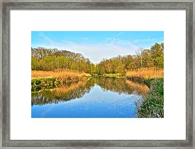 Mirror Canal Framed Print by Frozen in Time Fine Art Photography