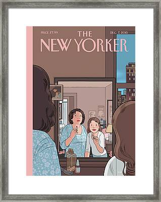 Mirror Framed Print by Chris Ware