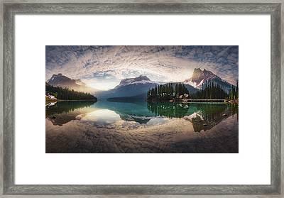 Mirror Emerald Framed Print