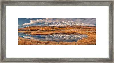 Mirror For Mountains Framed Print