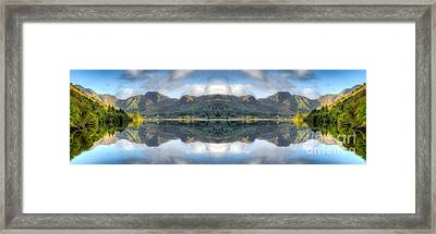 Mirror Lake Framed Print by Adrian Evans