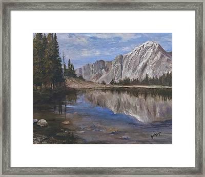 Mirror Lake Framed Print by Bev Finger