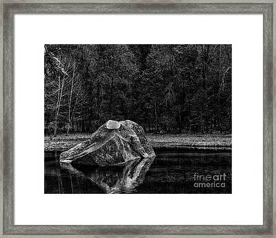 Mirror Lake Boulder Framed Print