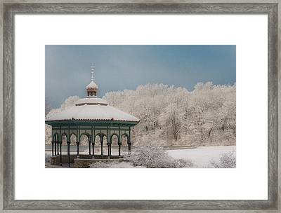 Mirror Lake Gazebo Framed Print