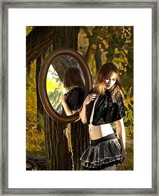 Mirror Mirror On The Tree Framed Print by DJ Haimerl