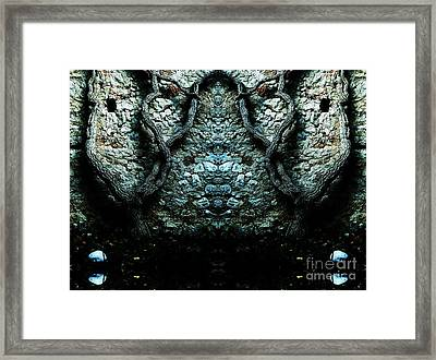 Mirror Mirror On The Wall Framed Print by Andy Prendy