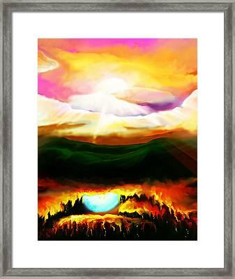 Framed Print featuring the painting Mirror Mirror by Persephone Artworks