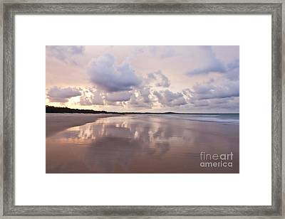 Mirror On Main Framed Print by Nicole Doyle