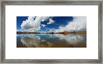 Mirror On The Highland Framed Print
