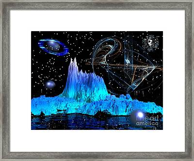 Mirrored Blue Image Framed Print by Jacqueline Lloyd