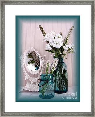 Mirrored Bouquet 1 Framed Print by Margaret Newcomb