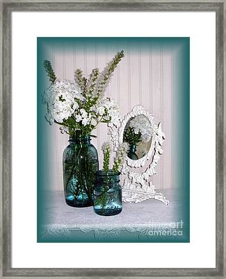 Mirrored Bouquet 2 Framed Print by Margaret Newcomb