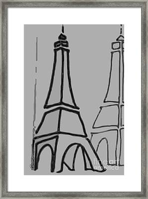 Mirrored Eiffel Tower Framed Print