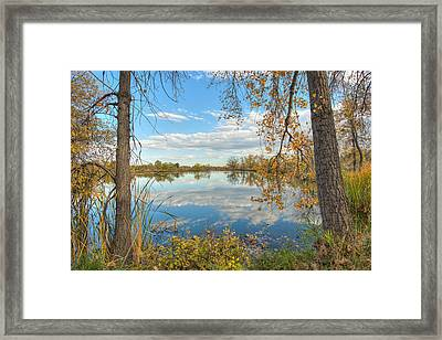 Mirrored Sky Framed Print