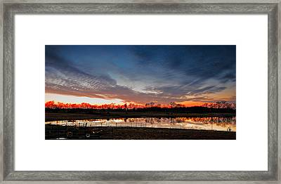 Mirrored Sunset  Framed Print by Brett Engle