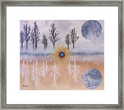 Mirrored Worlds  Framed Print
