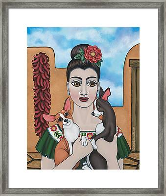 Mis Carinos Framed Print by Victoria De Almeida