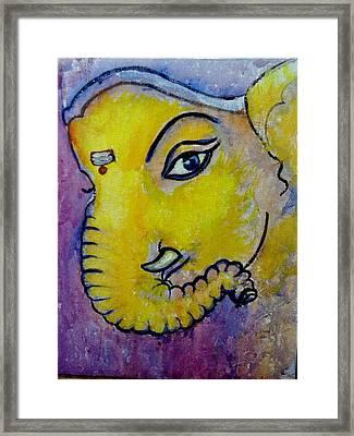 Mischievous Ganesha Framed Print