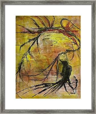 Framed Print featuring the painting Mischievous by Jane Chesnut