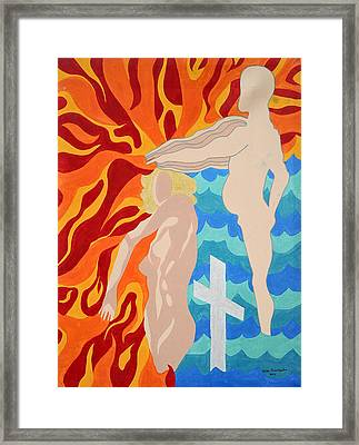 Framed Print featuring the painting Misdirected by Erika Chamberlin