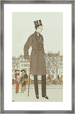 Mise D'un Jeune Homme Framed Print by French School
